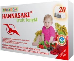 Dětský ovocný čaj Fruit fenykl s fenyklem, brusinkou, jahodou, jablkem, černým rybízem, šípkem, lékořicí, čekankou a červenou řepou - zdravé čaje Hannasaki