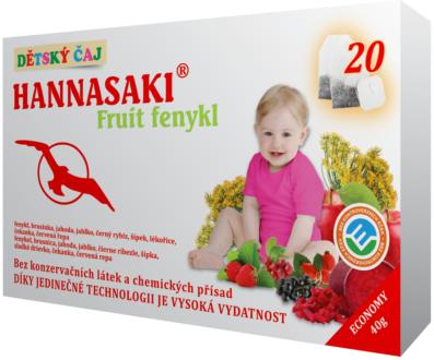 Hannasaki Fruit Fenykl – dětský ovocný čaj