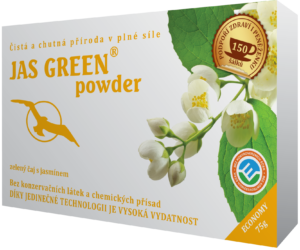 Jas Green 50g, 75g - Jasmínový zelený čaj, normální činnost srdce, antioxidant, kognitivní a duševní zdraví, přirozená obranyschopnost, kognitivní výkon.