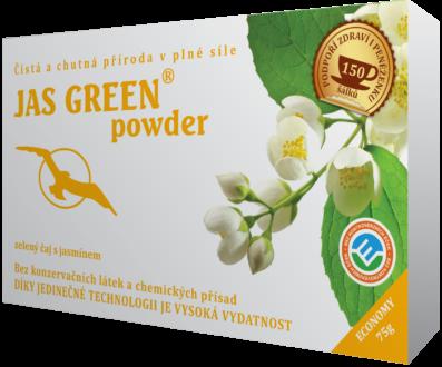 JAS GREEN powder – jasmínový zelený čaj