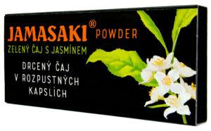Jamasaki - kapslovaný čaj - Drcený zelený čaj obohacený chutí a vůní jasmínu. Zklidňuje mysl i duši a podporuje klidný spánek. Praktické balení vhodné na cesty a outdoorové aktivity. Snadná příprava během několika minut.