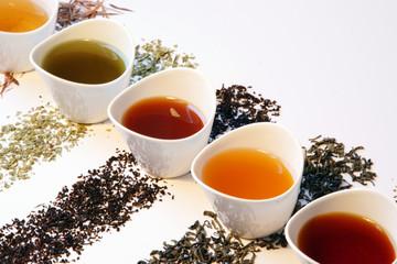 Redukce váhy se zeleným i červeným čajem
