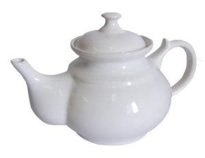 Konvička na čaj bílá