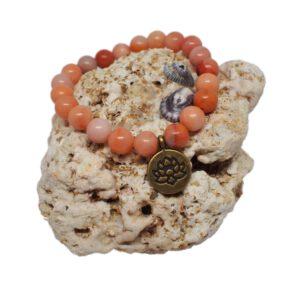 Náramek z minerálů - avanturín růžový - Zdravé čaje Hannasaki