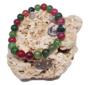 Náramek z minerálů - turmalín - Zdravé čaje hannasaki