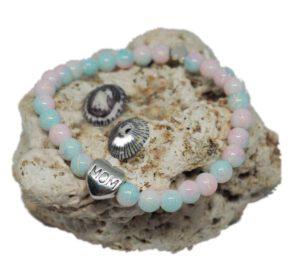 Náramek z minerálů - syntetické korálky - Zdravé čaje Hannasaki