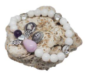Náramek z minerálů - praskané korálky - Zdravé čaje Hannasaki