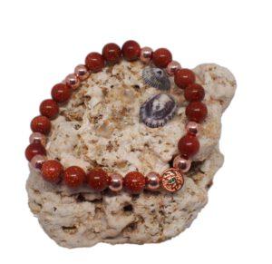 Náramek z minerálů - zlatý živec - Zdravé čaje Hannasaki