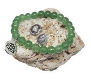 Náramek z minerálů - avanturín zelený - Zdravé čaje Hannasaki