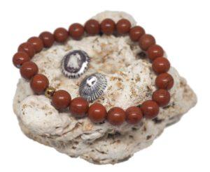 Náramky z minerálů - červený jaspis - Zdravé čaje Hannasaki