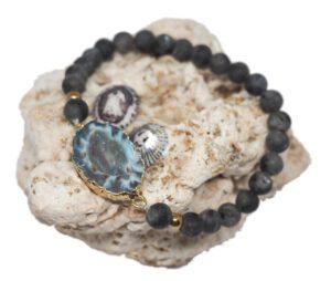 Náramek z minerálů - labradorit - Zdravé čaje Hannasaki
