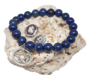 Náramek z minerálů - lapis lazuli - Zdravé čaje Hannasaki