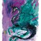 ilustrace - fialový drak